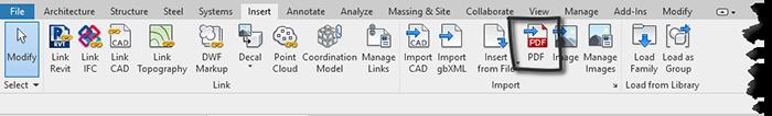 Revit 2020 pdf import
