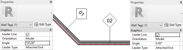 Revit 2022 Rotated Tags